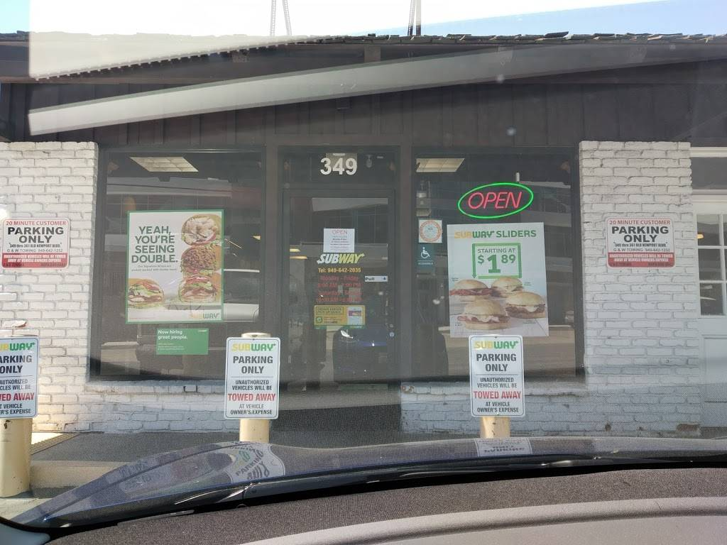Subway - meal takeaway  | Photo 5 of 6 | Address: 349 Old Newport Blvd, Newport Beach, CA 92663, USA | Phone: (949) 642-2035