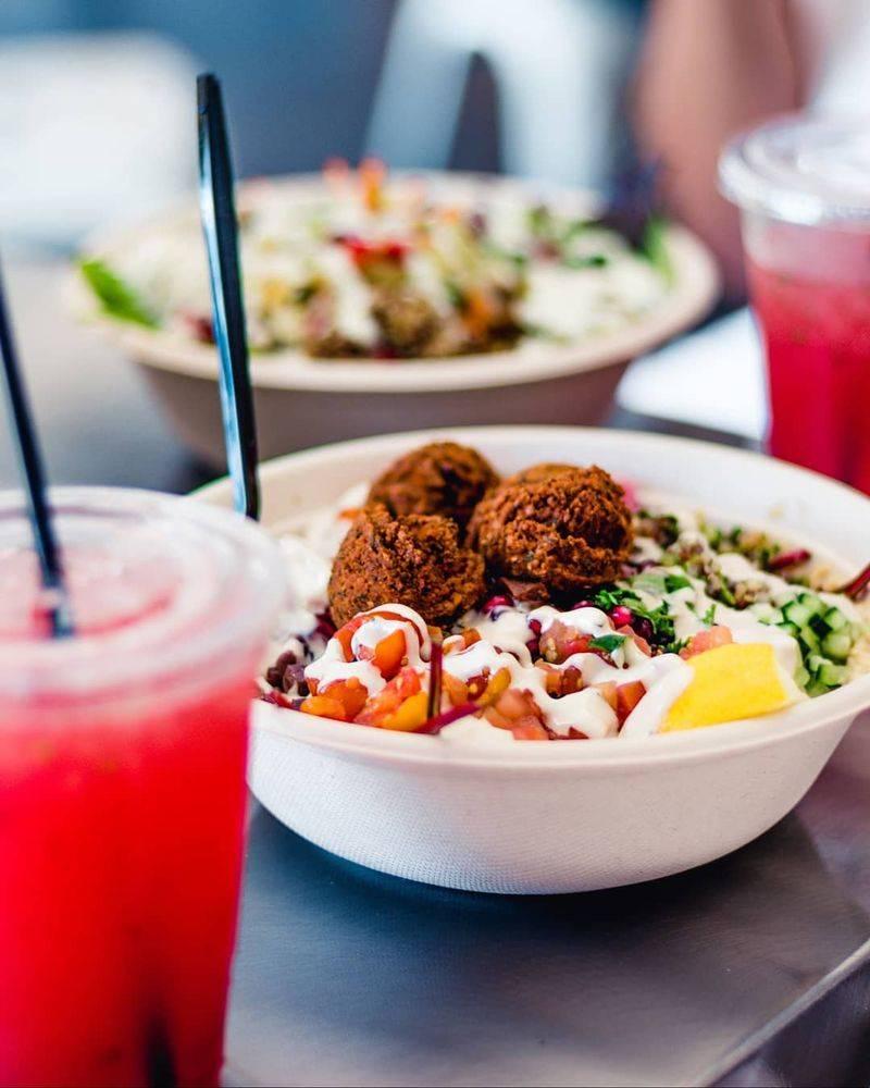 HUMMUS Bowls & Wraps - restaurant    Photo 3 of 9   Address: 7645 S Rainbow Blvd #100, Las Vegas, NV 89139, USA   Phone: (702) 333-1850