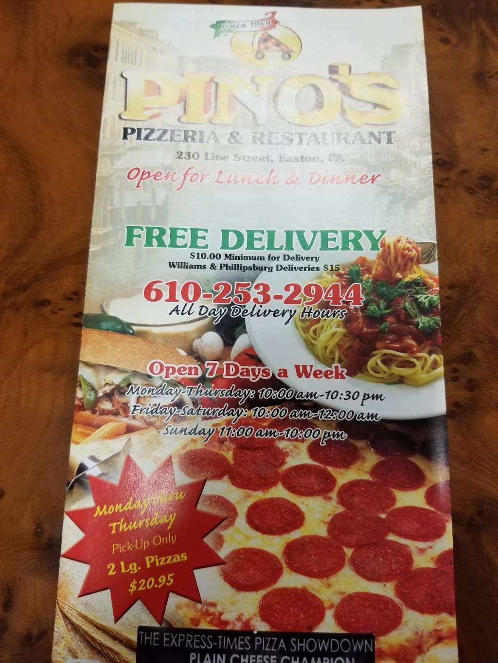 Pinos Pizzeria - restaurant  | Photo 7 of 9 | Address: 230 Line St, Easton, PA 18042, USA | Phone: (610) 253-2944