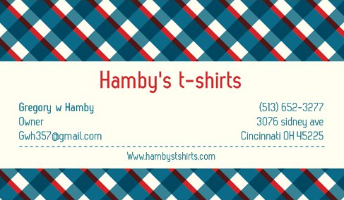 Hambys t-shirts - clothing store  | Photo 1 of 1 | Address: 3076 Sidney Ave, Cincinnati, OH 45225, USA | Phone: (513) 652-3277