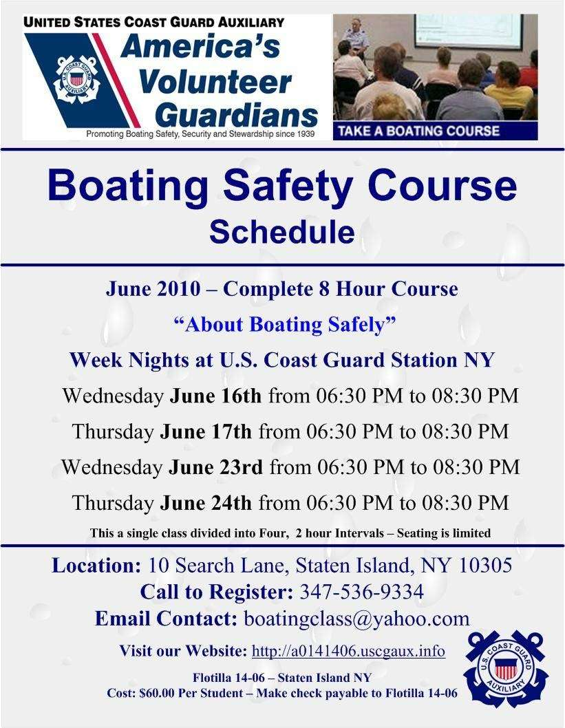 Safe Boating Class - car repair  | Photo 1 of 1 | Address: 10 Search Ln, Staten Island, NY 10305, USA | Phone: (347) 536-9334
