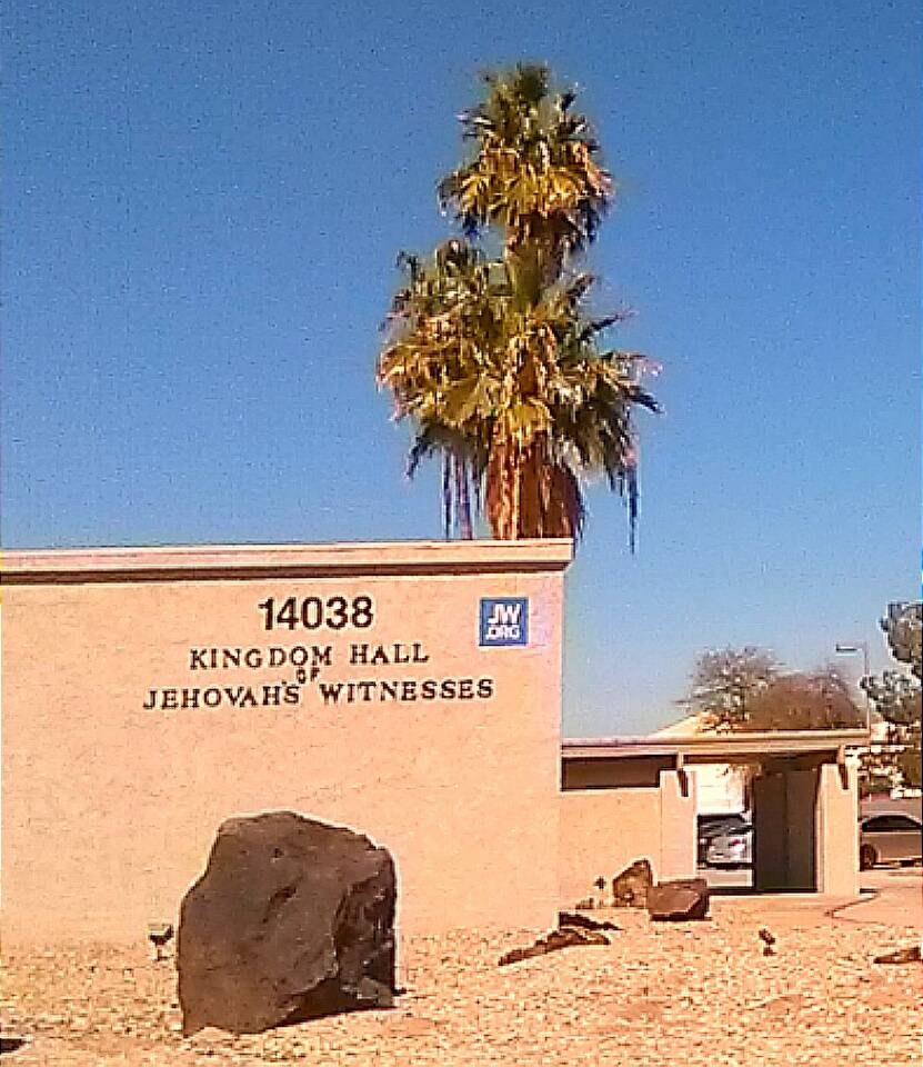 Kingdom Hall of Jehovahs Witnesses - church    Photo 1 of 2   Address: 14038 Yuma Rd, Goodyear, AZ 85338, USA   Phone: (623) 932-1708