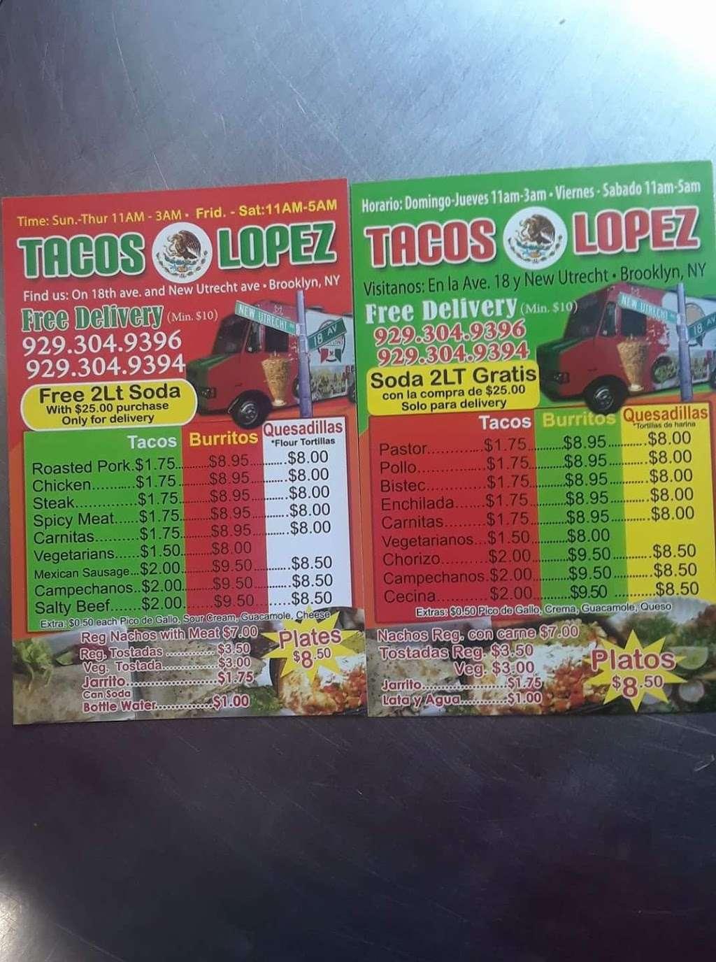 Taco LOPEZ - restaurant    Photo 8 of 10   Address: 86th street and, 18th Ave, Brooklyn, NY 11214, USA   Phone: (929) 304-9394
