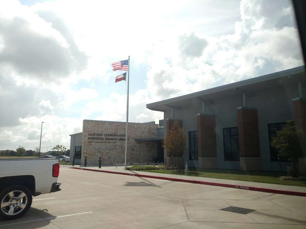Sam and Carmena Goss Memorial Branch Library - library  | Photo 1 of 1 | Address: 1 John Hall Drive, Mont Belvieu, TX 77523, USA | Phone: (281) 576-2245