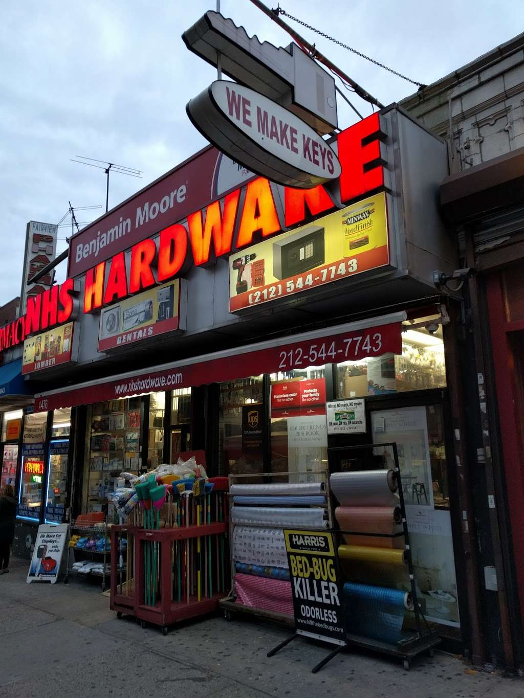 NHS HARDWARE - home goods store    Photo 1 of 8   Address: 4476 BROADWAY @, W 192nd St, New York, NY 10040, USA   Phone: (212) 544-7743