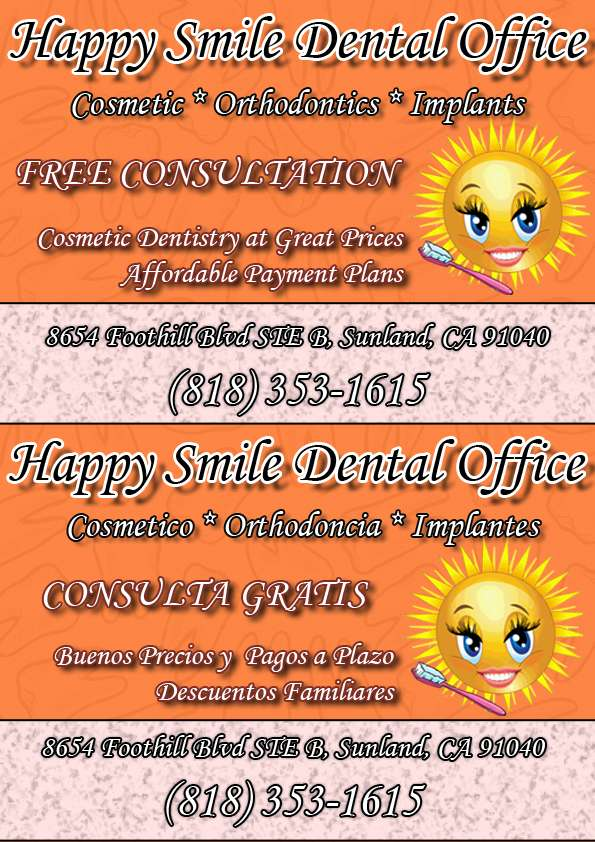 Happy Smile Dental Office - dentist  | Photo 8 of 9 | Address: 8654 Foothill Blvd b, Sunland-Tujunga, CA 91040, USA | Phone: (818) 353-1615