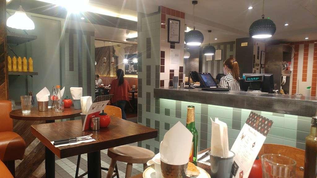 Gourmet Burger Kitchen (Baker Street) - restaurant  | Photo 1 of 10 | Address: 102 Baker St, Marylebone, London W1U 6TL, UK | Phone: 020 7486 8516