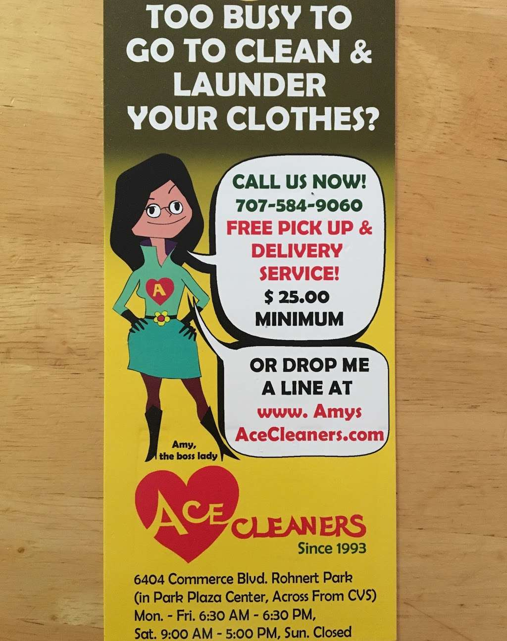 Ace Cleaners - laundry  | Photo 8 of 10 | Address: 6404 Commerce Blvd, Rohnert Park, CA 94928, USA | Phone: (707) 584-9060