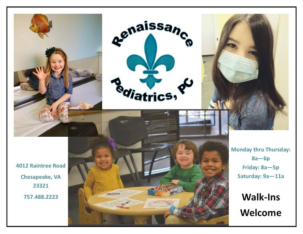Renaissance Pediatrics, PC - doctor  | Photo 8 of 9 | Address: 4012 Raintree Rd, Chesapeake, VA 23321, USA | Phone: (757) 488-2223