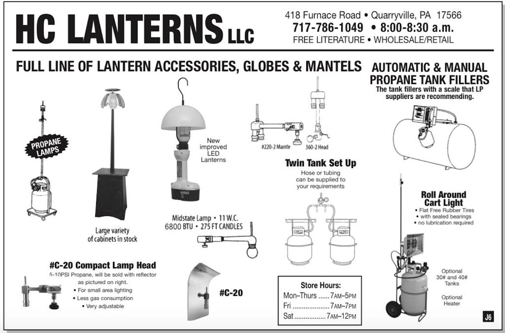 HC Lanterns - store  | Photo 1 of 2 | Address: 418 Furnace Rd, Quarryville, PA 17566, USA | Phone: (717) 786-1049