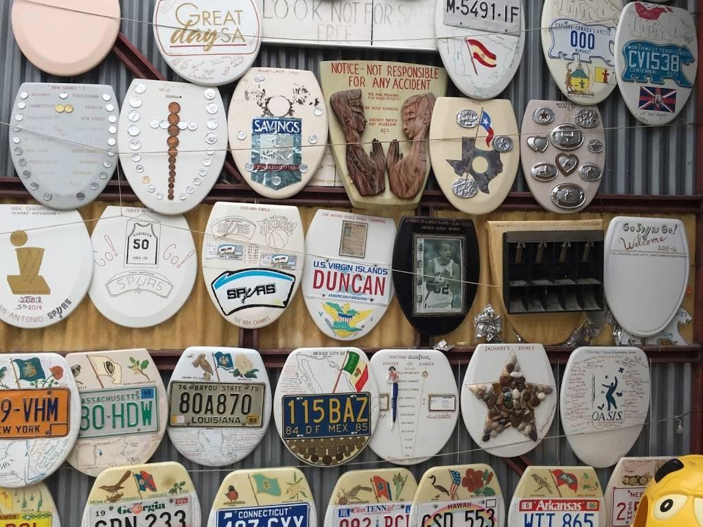 Barney Smiths Toilet Seat Art Museum - museum    Photo 3 of 9   Address: 239 Abiso Ave, San Antonio, TX 78209, USA   Phone: (210) 824-7791