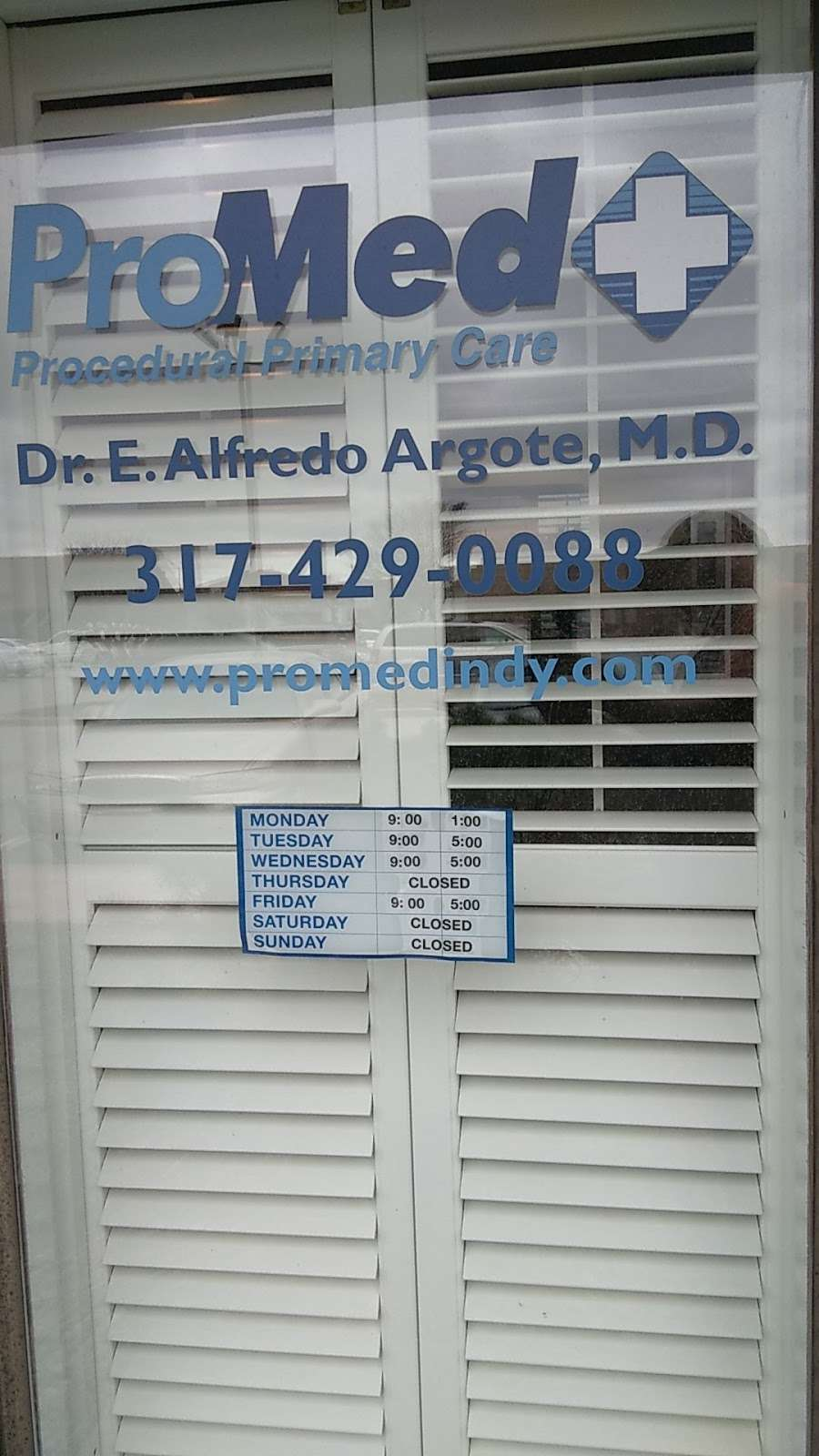 Promed Family & Procedural Med: Argote Enrique MD - doctor  | Photo 1 of 1 | Address: 8202 Clearvista Pkwy #5b, Indianapolis, IN 46256, USA | Phone: (317) 429-0088