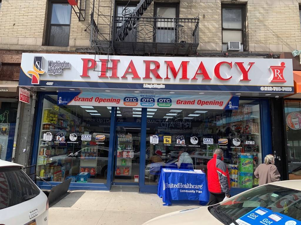 Washington Heights pharmacy & Surgical supplies inc. - pharmacy    Photo 1 of 2   Address: 4197 Broadway, New York, NY 10033, USA   Phone: (212) 795-7455
