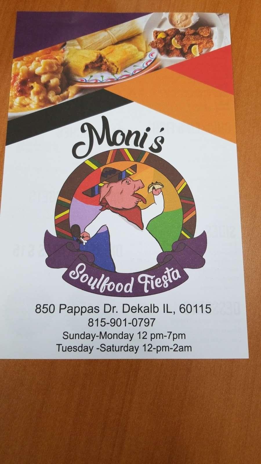 Monis Soulfood Fiesta - restaurant    Photo 7 of 7   Address: 850 Pappas Dr, DeKalb, IL 60115, USA   Phone: (815) 901-0797