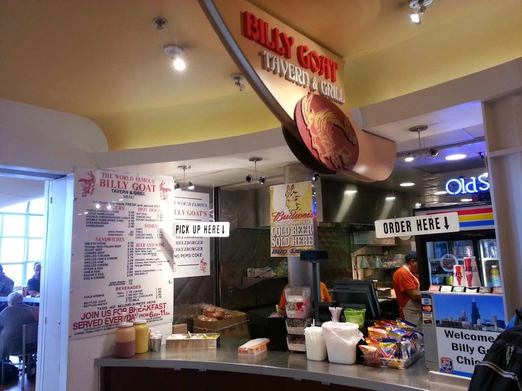 Billy Goat - restaurant    Photo 2 of 10   Address: West OHare Avenue, Chicago, IL 60666, USA   Phone: (773) 462-9368