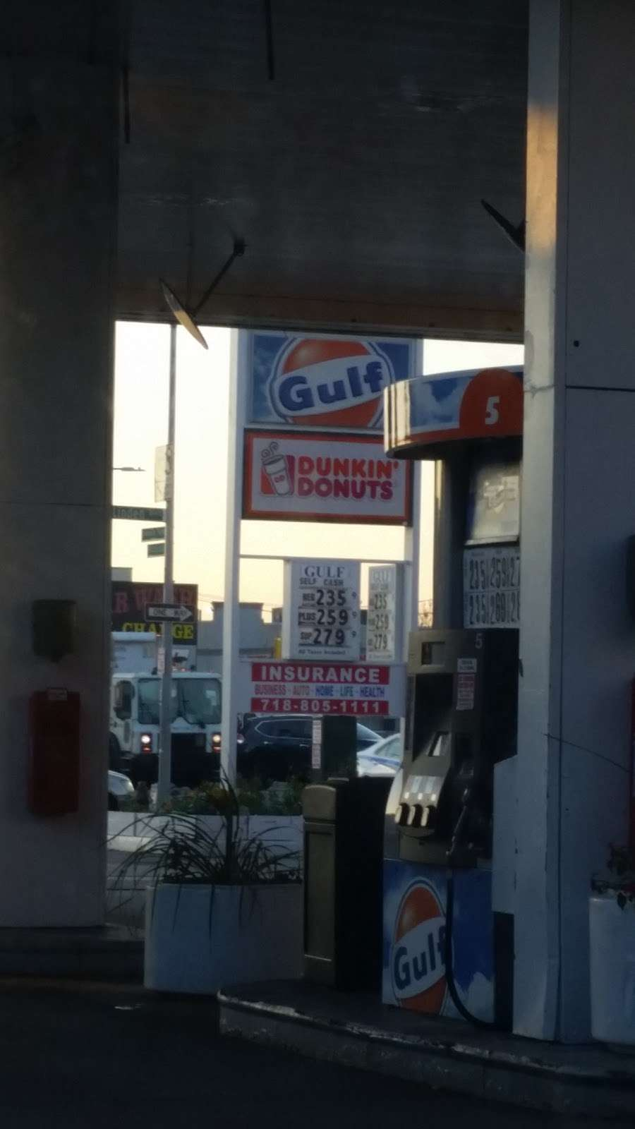 Dunkin Donuts - cafe    Photo 6 of 10   Address: Gulf Gas Station, 1939 Linden Blvd, Brooklyn, NY 11207, USA   Phone: (718) 272-5801