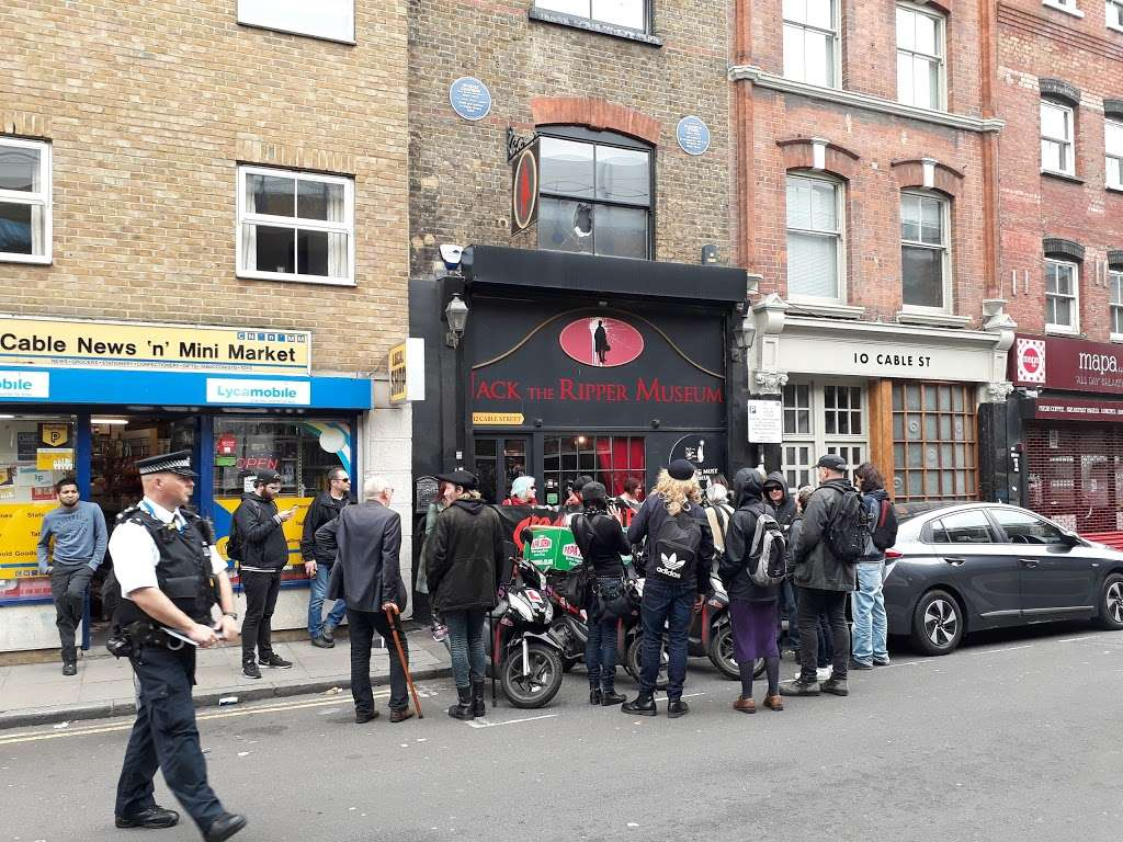 Jack The Ripper Museum - museum    Photo 10 of 10   Address: 12 Cable St, Whitechapel, London E1 8JG, UK   Phone: 020 7488 9811
