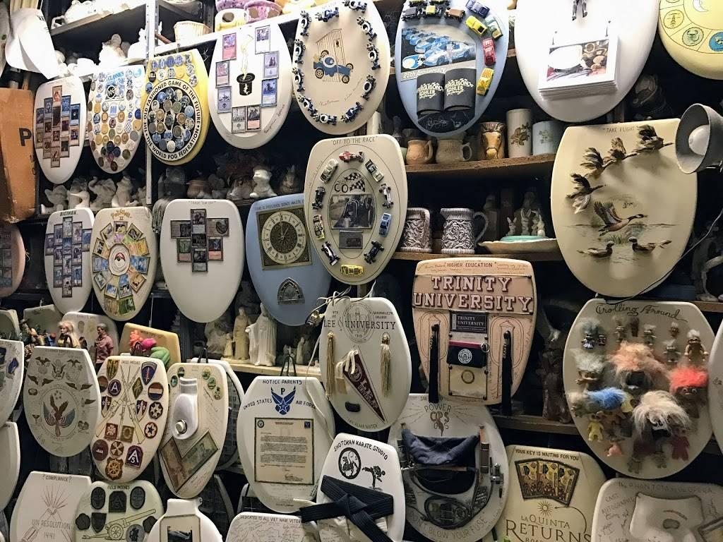 Barney Smiths Toilet Seat Art Museum - museum    Photo 1 of 9   Address: 239 Abiso Ave, San Antonio, TX 78209, USA   Phone: (210) 824-7791
