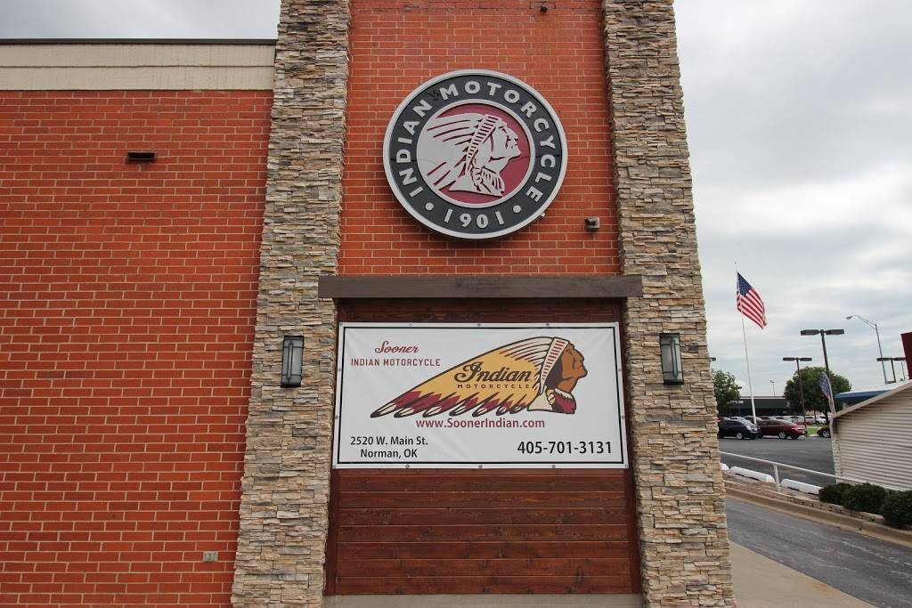 Sooner Indian Motorcycle - store    Photo 5 of 8   Address: 2232 Tecumseh Dr, Norman, OK 73069, USA   Phone: (405) 701-3131