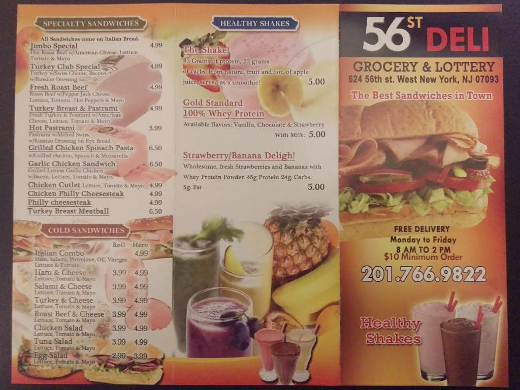 56th Street Deli - store  | Photo 7 of 9 | Address: 624 56th St, West New York, NJ 07093, USA | Phone: (201) 766-9822