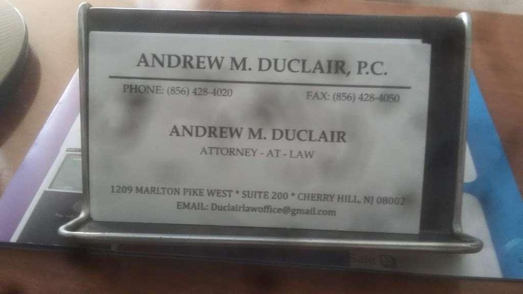 Duclair M Andrew - lawyer  | Photo 4 of 4 | Address: 1209 Marlton Pike W, Cherry Hill, NJ 08002, USA | Phone: (856) 428-4020