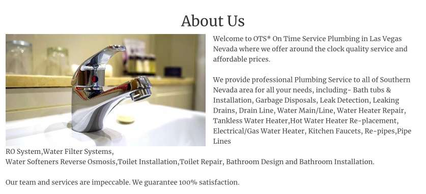 Aaaa On Time - plumber  | Photo 8 of 9 | Address: 6069 S Fort Apache Rd #100, Las Vegas, NV 89148, USA | Phone: (702) 502-0003