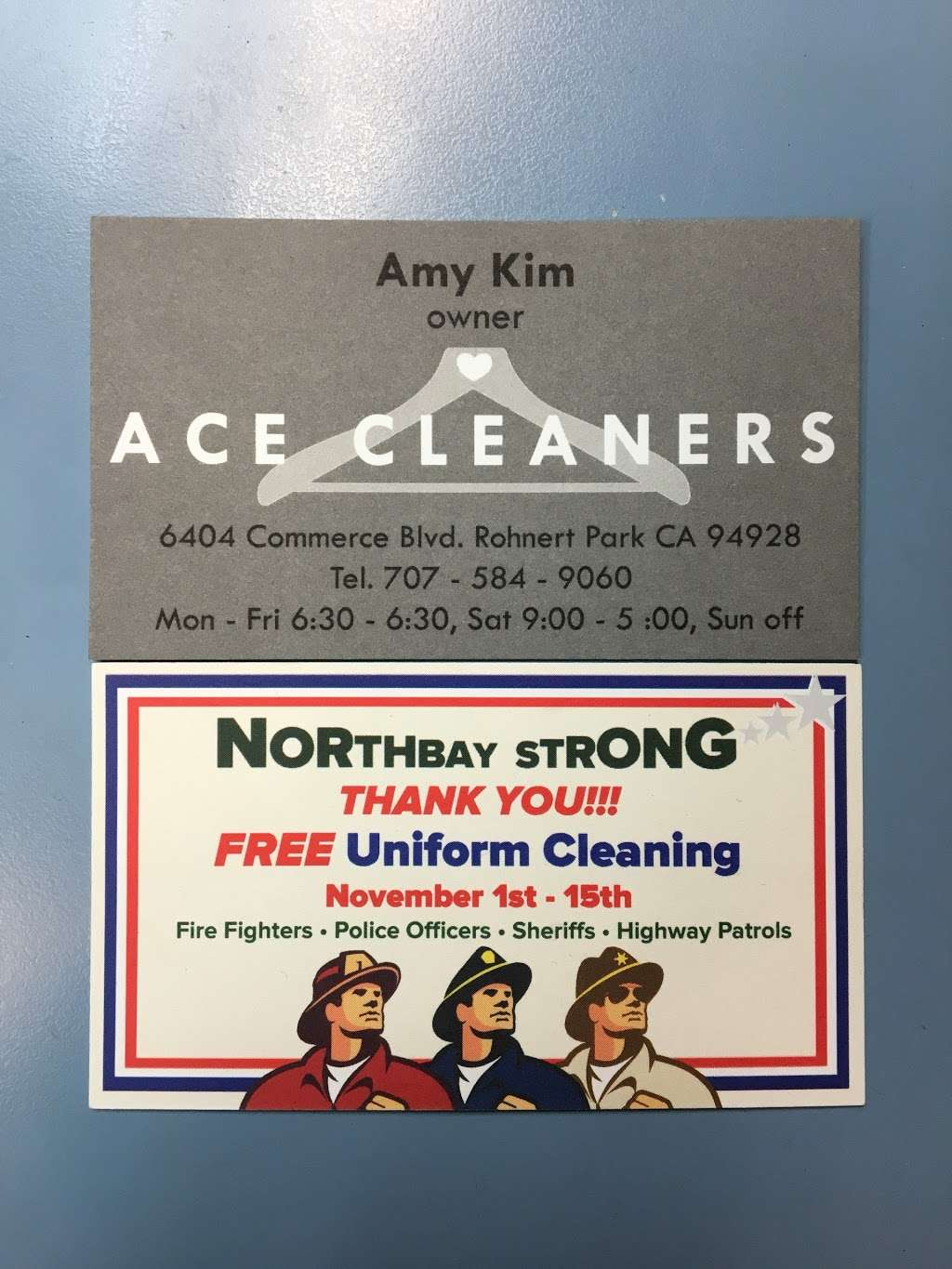Ace Cleaners - laundry  | Photo 10 of 10 | Address: 6404 Commerce Blvd, Rohnert Park, CA 94928, USA | Phone: (707) 584-9060
