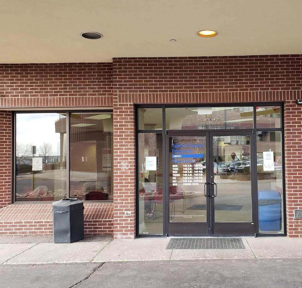 Talecris Plasma Resources - hospital  | Photo 1 of 9 | Address: 2502 E Pikes Peak Ave #180, Colorado Springs, CO 80909, USA | Phone: (719) 635-5926