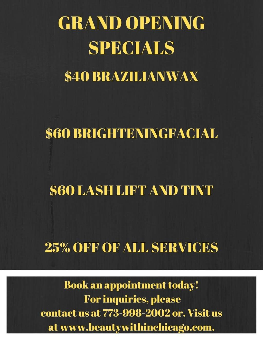 Beauty within Chicago Llc - spa    Photo 7 of 9   Address: 1743 W 18th St, Chicago, IL 60608, USA   Phone: (773) 998-2002
