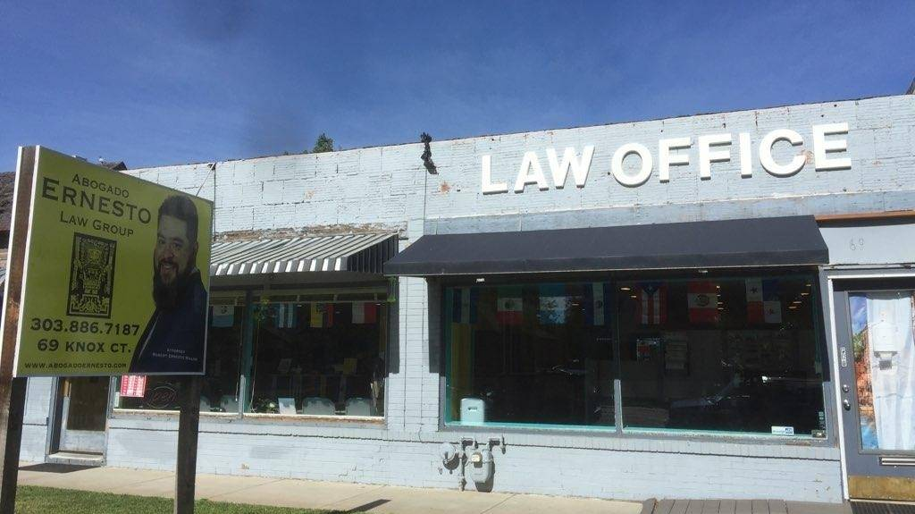 The Abogado Ernesto Law Group - lawyer    Photo 1 of 8   Address: 69 Knox Ct, Denver, CO 80219, USA   Phone: (303) 886-7187