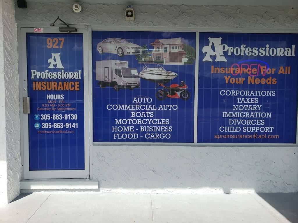 A Professional Insurance Agency - insurance agency  | Photo 1 of 1 | Address: 927 W 29th St, Hialeah, FL 33012, USA | Phone: (305) 863-9130