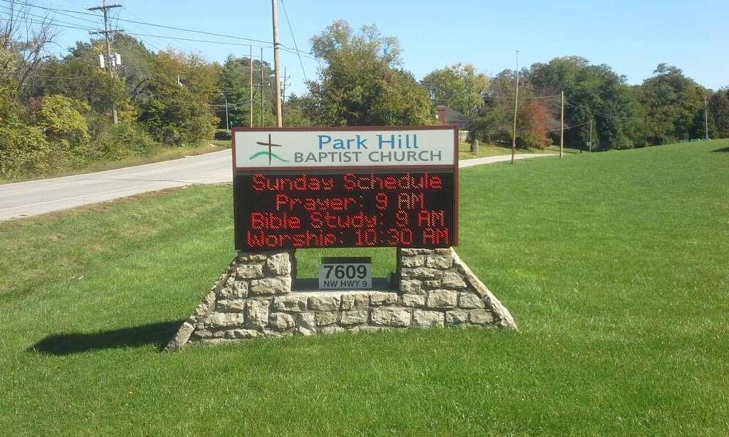 Park Hill Baptist Church - church  | Photo 1 of 1 | Address: 7609 NW Hwy #9, Kansas City, MO 64152, USA | Phone: (816) 741-1411