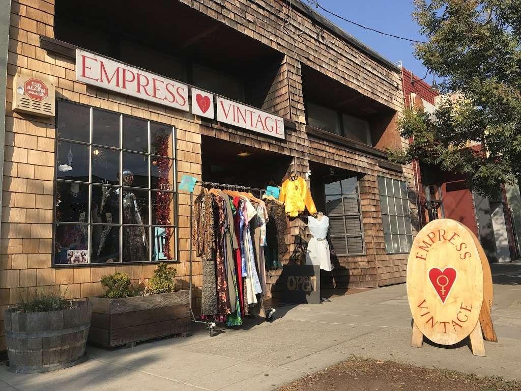 Empress Vintage - clothing store    Photo 5 of 10   Address: 1757 Alcatraz Ave, Berkeley, CA 94703, USA   Phone: (510) 542-6196