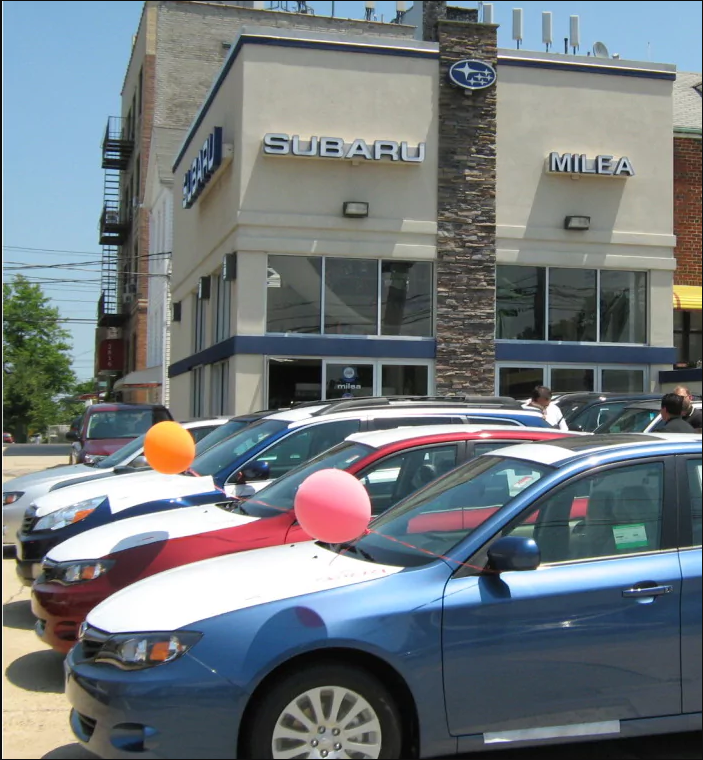 Milea Subaru - car dealer  | Photo 4 of 10 | Address: 3201 E Tremont Ave, Bronx, NY 10461, USA | Phone: (718) 829-8200