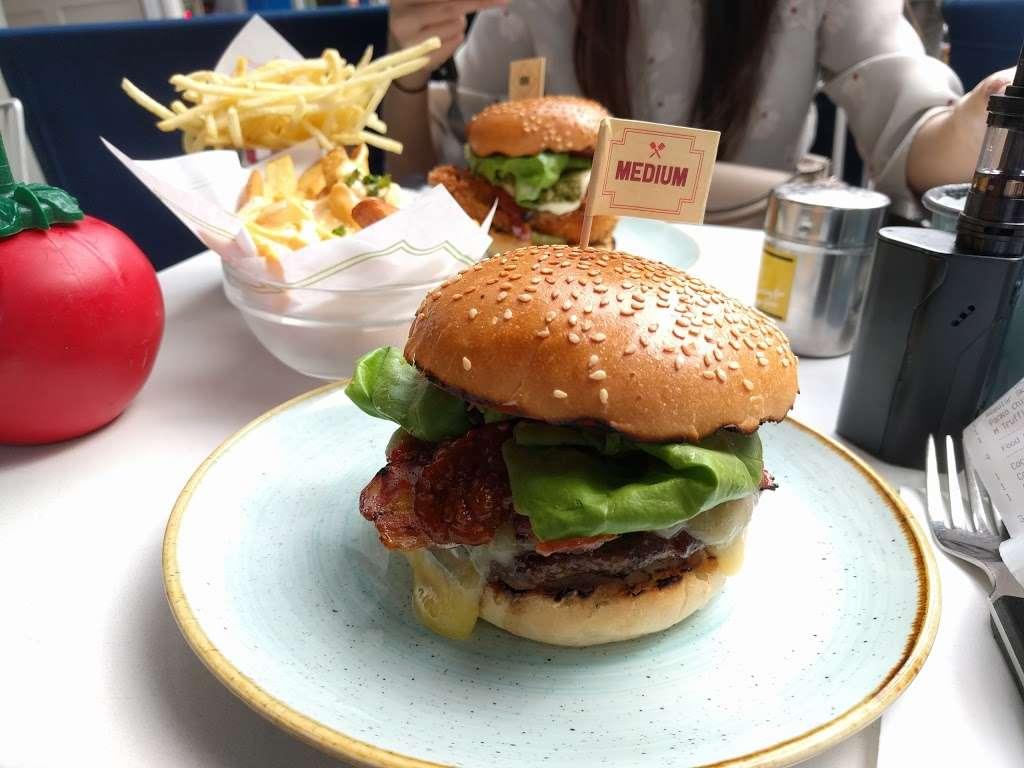 Gourmet Burger Kitchen (Baker Street) - restaurant  | Photo 2 of 10 | Address: 102 Baker St, Marylebone, London W1U 6TL, UK | Phone: 020 7486 8516