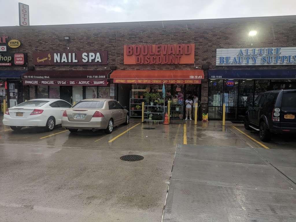 Boulevard Discount - home goods store    Photo 3 of 10   Address: 15019 Cross Bay Blvd #3, Ozone Park, NY 11417, USA   Phone: (718) 322-6688