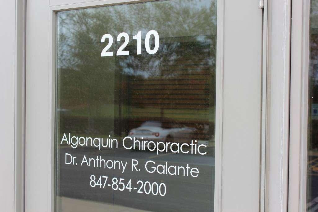 Anthony R. Galante, DC - physiotherapist    Photo 8 of 10   Address: 2210 N Huntington Dr, Algonquin, IL 60102, USA   Phone: (847) 854-2000