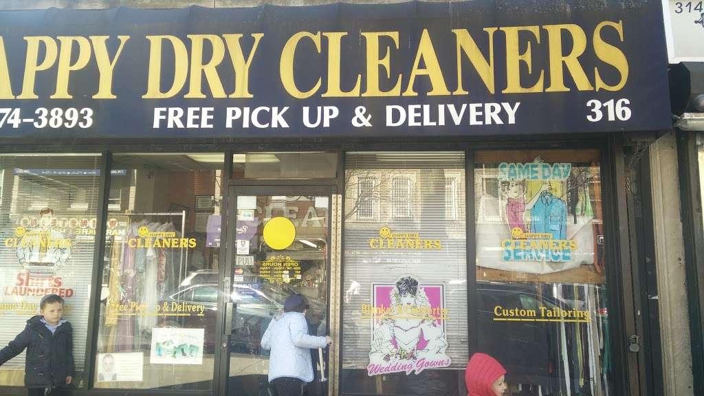 Happy Dry Cleaners - laundry  | Photo 1 of 3 | Address: 316 Kingston Ave, Brooklyn, NY 11213, USA | Phone: (718) 774-3893