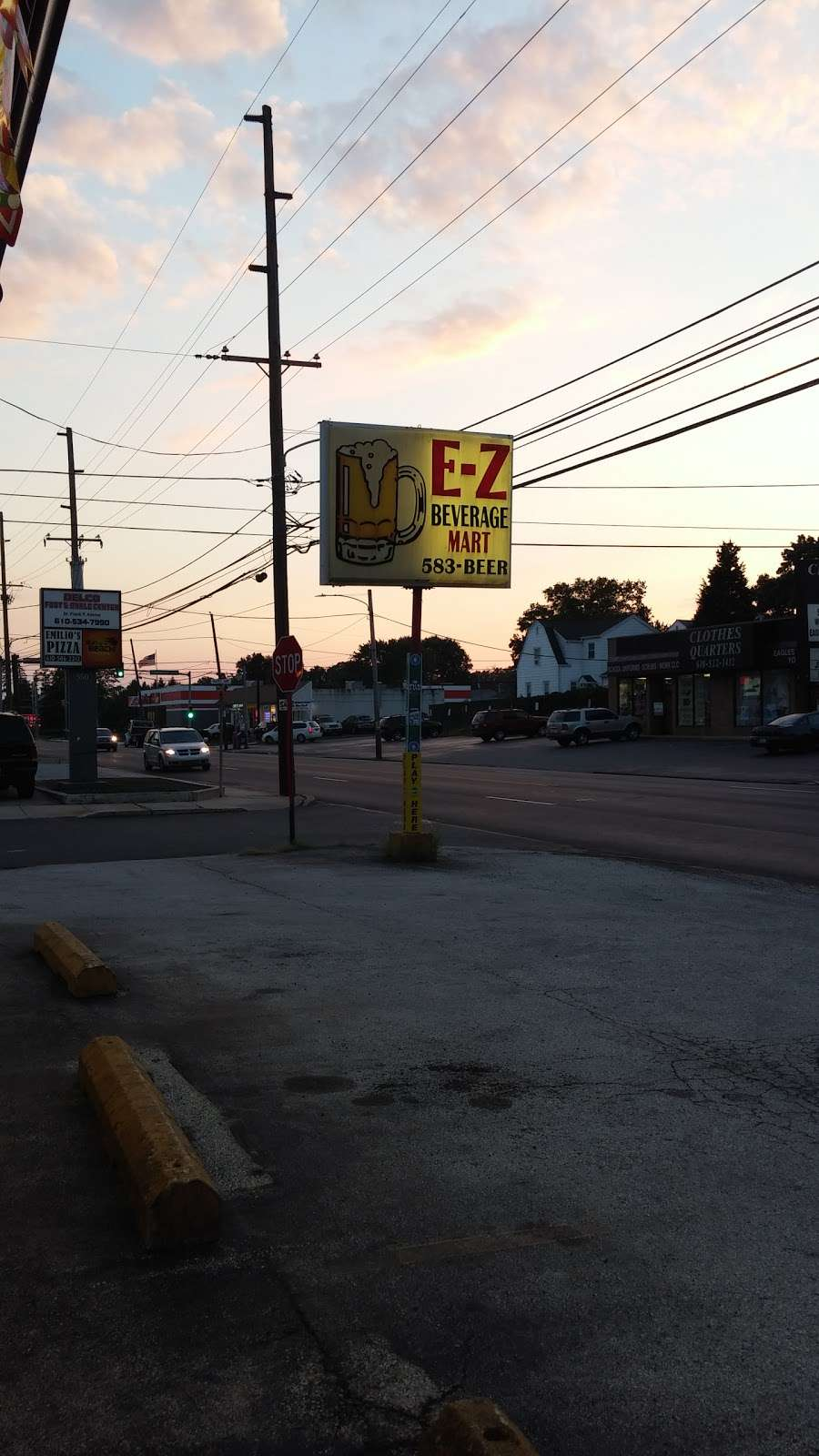 E Z Beverage - store    Photo 1 of 1   Address: 600 MacDade Boulevard, Folsom, PA 19033, USA   Phone: (610) 583-2337