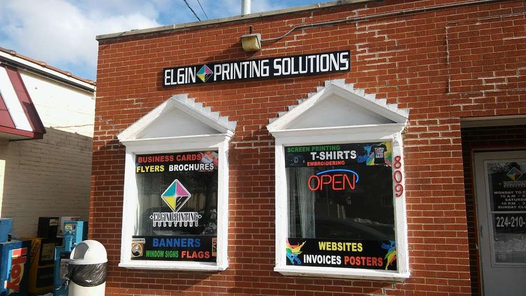 Elgin Printing Solutions - store  | Photo 1 of 6 | Address: 809 St Charles St, Elgin, IL 60120, USA | Phone: (847) 354-4616