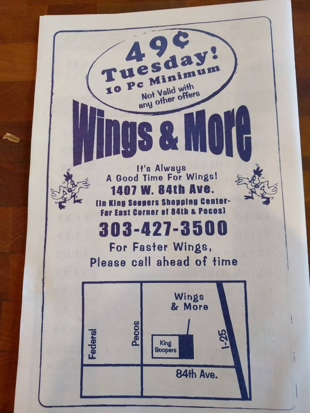 Wings & More - restaurant  | Photo 8 of 10 | Address: 1407 W 84th Ave, Denver, CO 80260, USA | Phone: (303) 427-3500