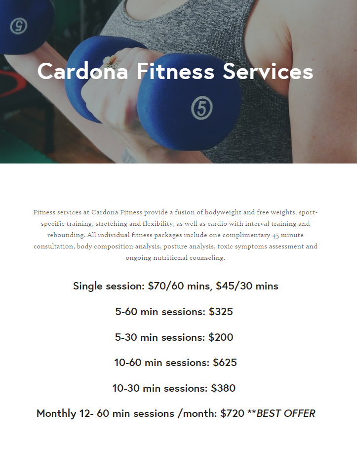 Cardona Fitness - health  | Photo 6 of 9 | Address: 845 Riverside Dr, New York, NY 10032, USA | Phone: (917) 426-0160