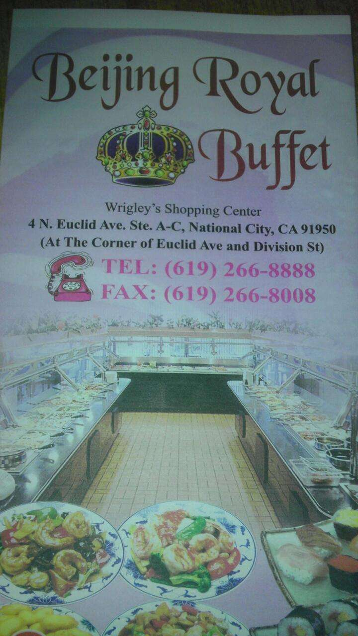 Beijing Royal Buffet - restaurant  | Photo 3 of 3 | Address: 4 N Euclid Ave A-C, National City, CA 91950, USA | Phone: (619) 266-8888