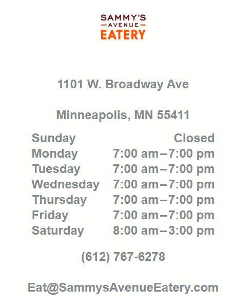 Sammy's Avenue Eatery #2 - cafe  | Photo 10 of 10 | Address: 3301 Central Ave NE, Minneapolis, MN 55418, USA | Phone: (612) 236-4882