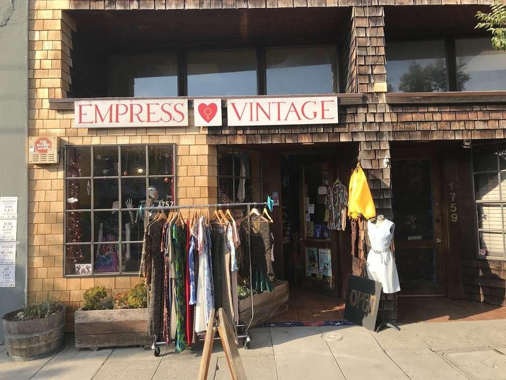 Empress Vintage - clothing store    Photo 3 of 10   Address: 1757 Alcatraz Ave, Berkeley, CA 94703, USA   Phone: (510) 542-6196