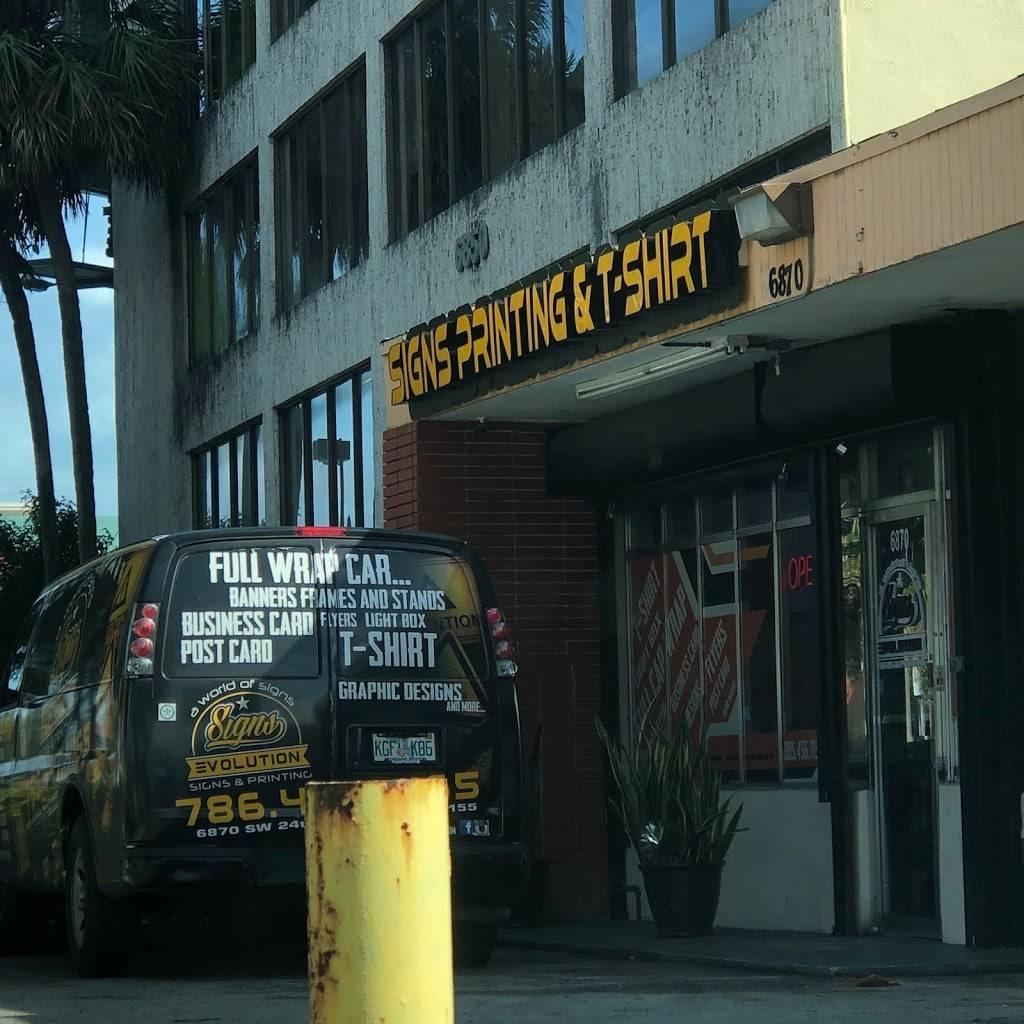 Signs Evolution - store    Photo 3 of 4   Address: 6870 SW 24th St, Miami, FL 33155, USA   Phone: (786) 447-4160