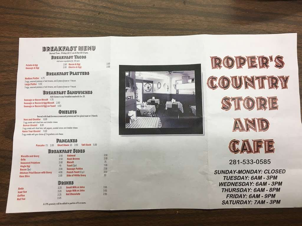 Ropers Country Store & Cafe - convenience store  | Photo 5 of 8 | Address: 37014 Farm to Market 1093, Simonton, TX 77476, USA | Phone: (281) 533-0585