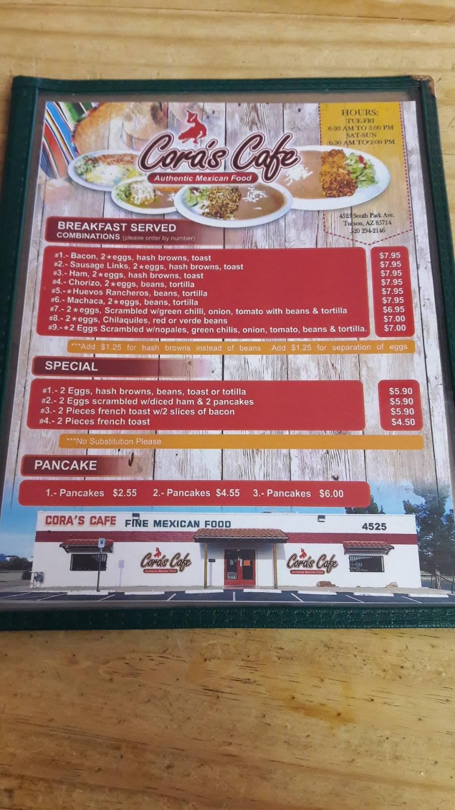 Coras Cafe - restaurant    Photo 10 of 10   Address: 4525 S Park Ave, Tucson, AZ 85714, USA   Phone: (520) 294-2146