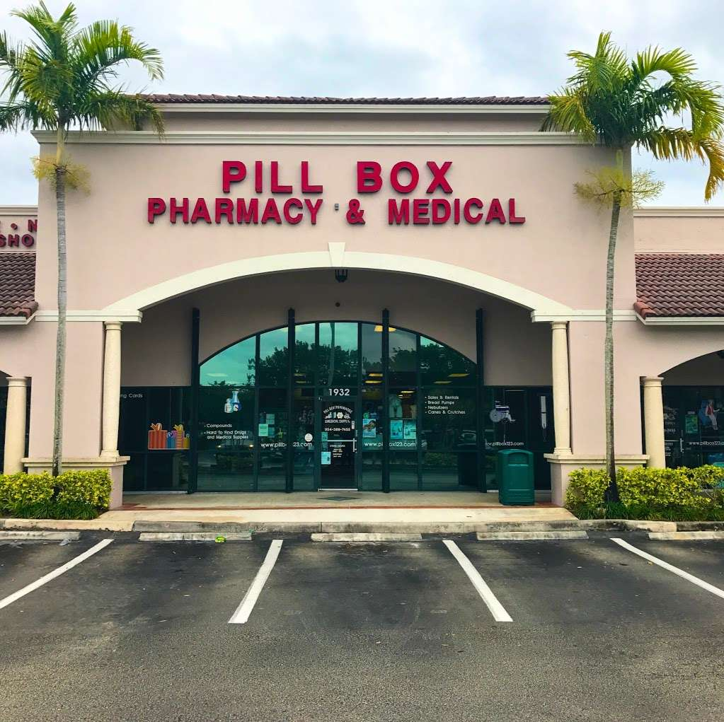 Pill Box Pharmacy & Medical Supply - pharmacy    Photo 3 of 7   Address: 1932 Weston Rd, Weston, FL 33326, USA   Phone: (954) 389-7455
