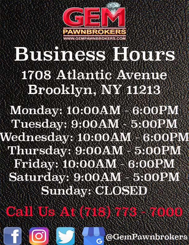 Gem Pawnbrokers - jewelry store  | Photo 4 of 4 | Address: 1708 Atlantic Ave, Brooklyn, NY 11213, USA | Phone: (718) 773-7000